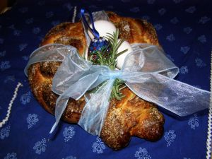 Easter Bread Wreath